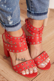Hole In One Heels (Red)
