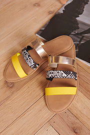 Out Of My Mind Sandals (Neon Yellow)