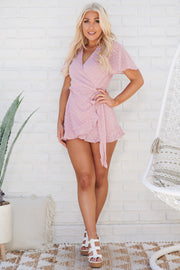 Hit The Spot Polka Dot Romper (Mauve)