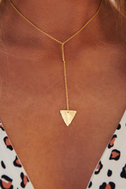 Met Someone New Lariat Necklace (Gold) - NanaMacs
