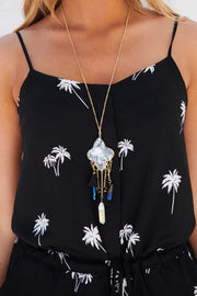 Who's That Girl Statement Necklace (Black)