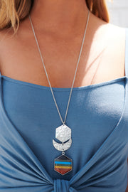 Pretty Sweet Statement Necklace (Silver)