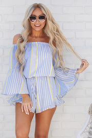 Tropical Climate Romper (Blue)