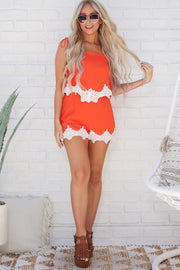 Love Strings Romper (Cherry Red) - NanaMacs