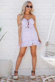 Make It Easy Strapless Dress (Lilac)