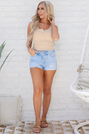 Square One Crop Top (Tan)