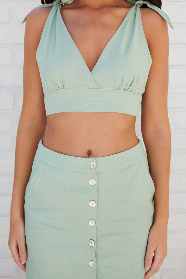 Twice As Nice Two Piece Set (Sage)