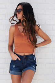 Square One Crop Top (Rust)