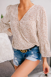 Can't Change Her Spots Surplice Top (Ivory) - NanaMacs