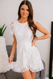Keep You Forever Lace Dress (Off White) - NanaMacs
