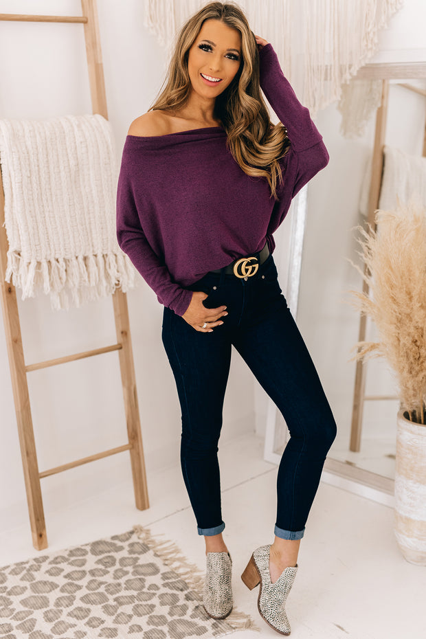 Better With You Off The Shoulder Top (Plum) - NanaMacs