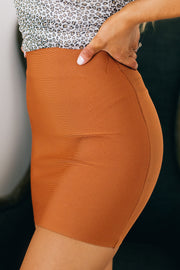 Flirting With Desire Bandage Skirt (Dusty Rust) - NanaMacs