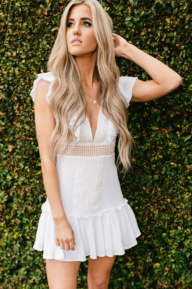 Enchanted Dreams Crochet Dress (Off White) - NanaMacs