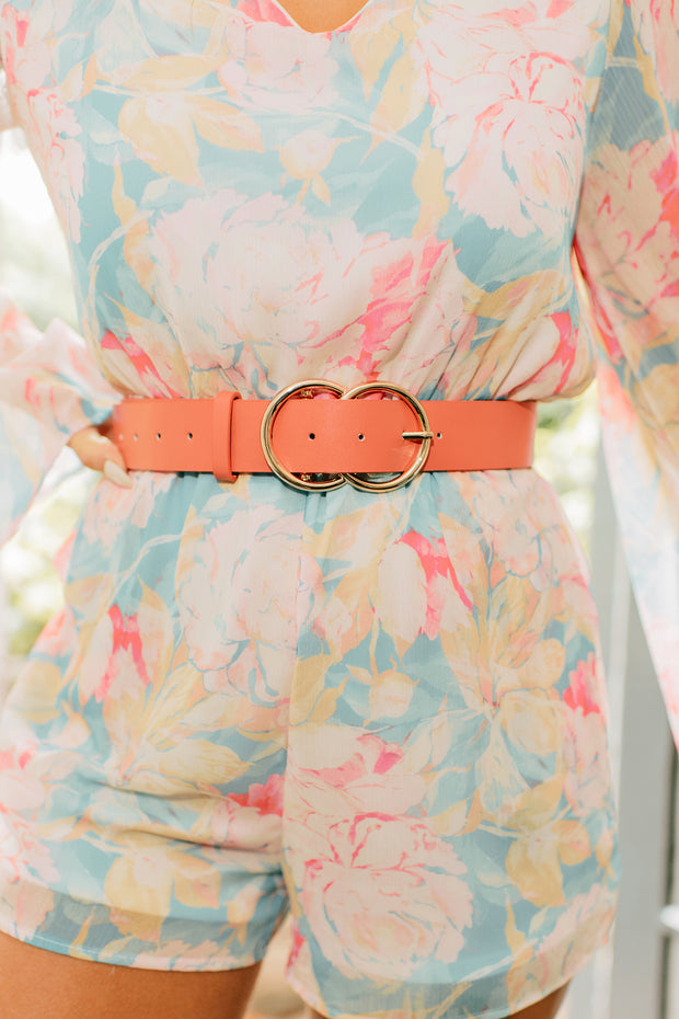 Seeing Double Belt (Coral) - NanaMacs