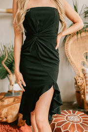 Never Know Why Strapless Dress (Black) - NanaMacs