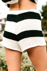 Cozy And Chill Knitted Two Piece Set (Ivory/Black) - NanaMacs