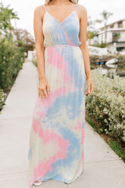Sunday Sweet Tie Dye Maxi Dress (Multi) - NanaMacs