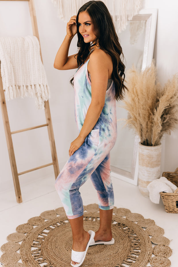 Better Than Your Birthday Suit Jumpsuit (Blue/Pink) - NanaMacs