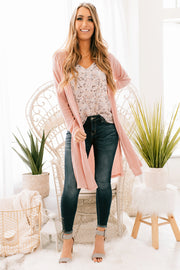 Don't Hold Back Duster Cardigan (Pink) - NanaMacs
