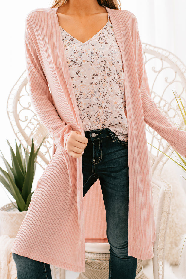 Don't Hold Back Duster Cardigan (Pink)