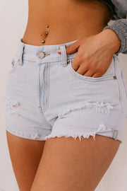 Raleigh Distressed Denim Shorts (Light Wash) - NanaMacs
