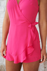 High Royalty Romper (Hot Pink)