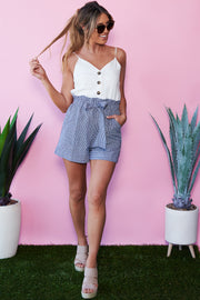 Country Road Romper (Dark Denim)