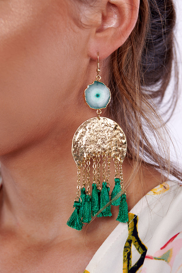 Sauce It Up Drop Earrings (Green) - NanaMacs