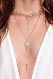 Weekend Ready Layered Necklace (Mint)