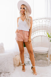 Days Go By Linen Shorts (Peach) - NanaMacs