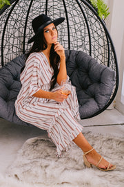 The Main Event Striped Jumpsuit (Multi Stripe) - NanaMacs