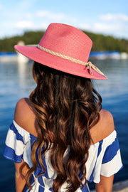 Taking A Stroll Straw Hat (Coral)