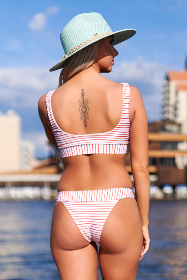 Red, White And You Striped Bikini (Red/White) - NanaMacs