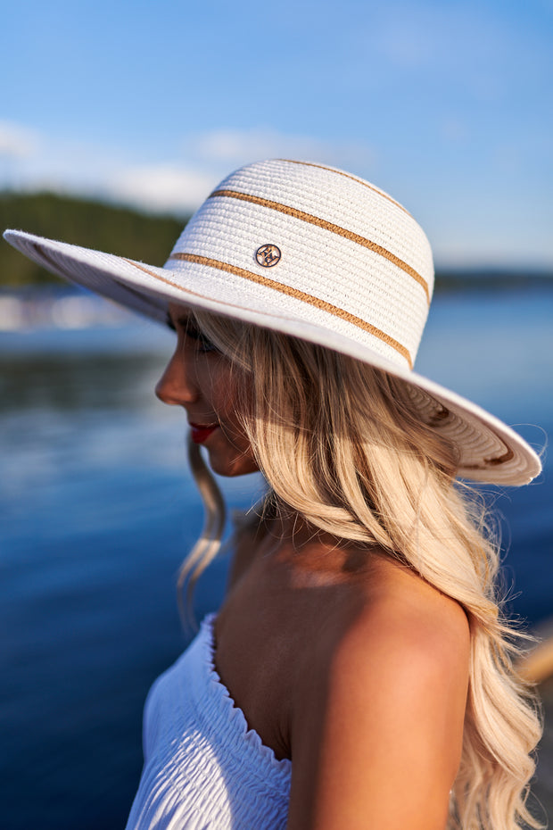 Lakeside Chillin' Straw Hat (Toast/White) - NanaMacs