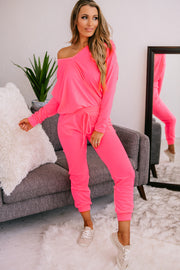 PRE-ORDER Home Alone Knit Two Piece Set (Neon Pink) - NanaMacs