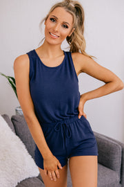 Happy Times Knit Romper (Navy) - NanaMacs