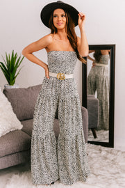 Darling Be Mine Wide Leg Jumpsuit (Black/Ivory) - NanaMacs