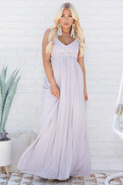 Swoon Over You Maxi Dress (Lavender)