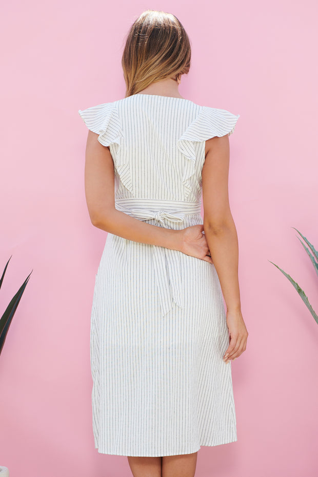 Just The Same Midi Dress (Off White)