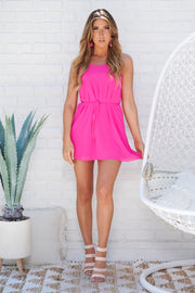 Feel Like Dancing Tie Dress (Hot Pink) - NanaMacs