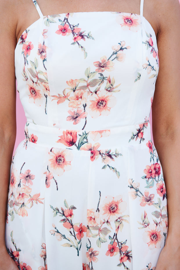 Floral Flair Jumpsuit (Ivory)