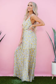 What's Up Buttercup Floral Maxi Dress (Yellow)