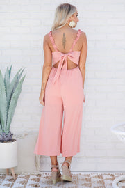 Home Before Daylight Jumpsuit (Coral)