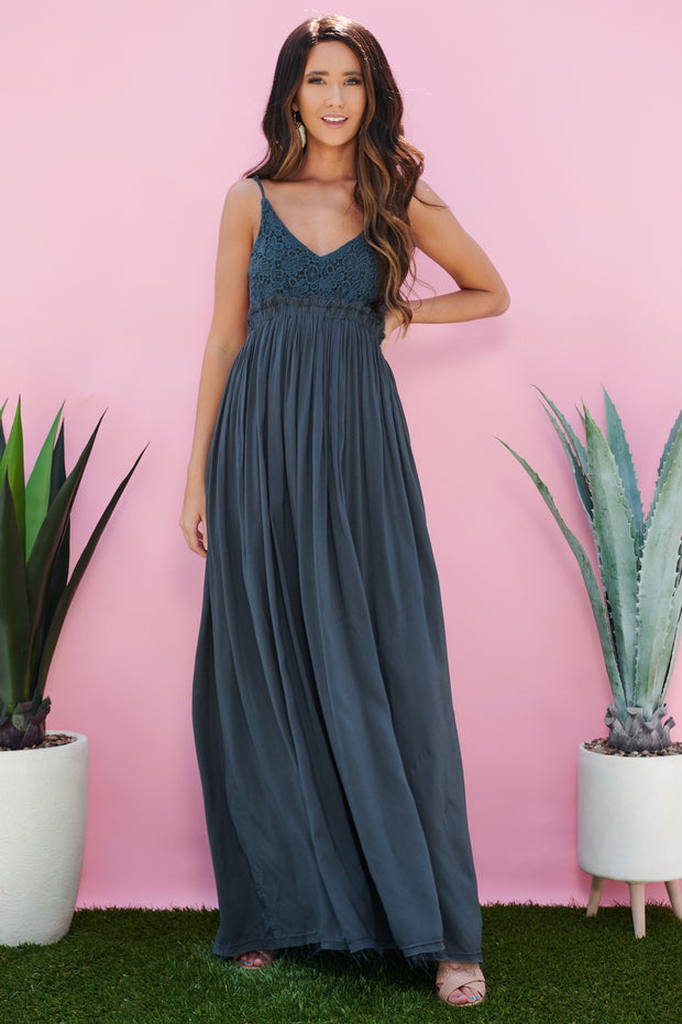 Swoon Over You Maxi Dress (Navy)
