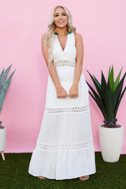 Happy Together Maxi Dress (Off White)