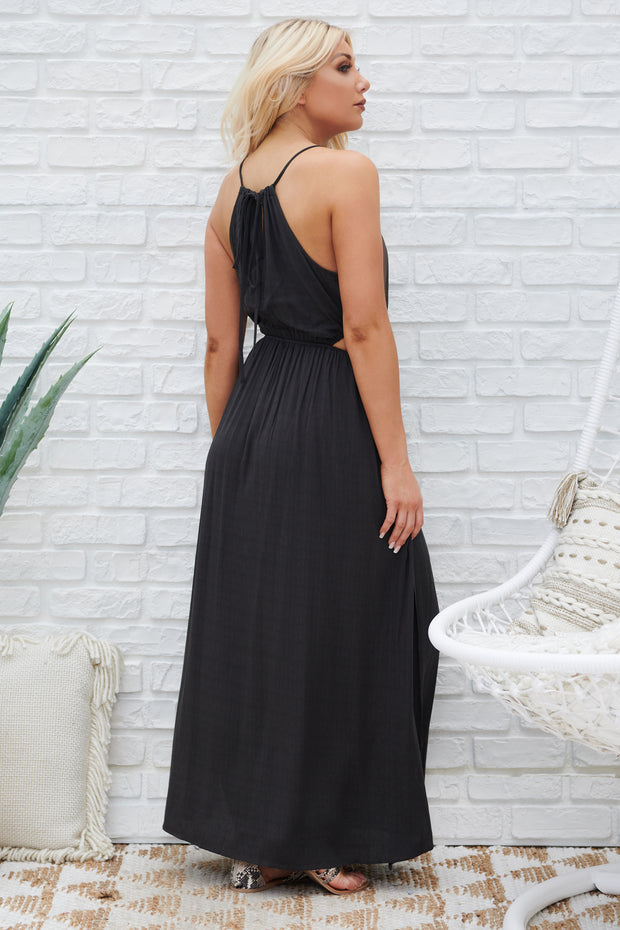 Starry Sky Maxi Dress (Charcoal)