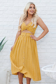 Up For It Two Piece Set (Mustard)
