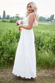 Sweet Melody Maxi Dress (White)