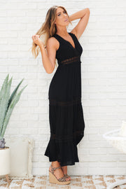 Happy Together Maxi Dress (Black)