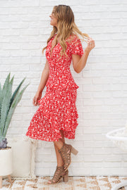 Sweet Wishes Dress (Red/Ivory)